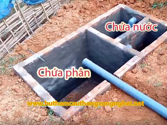 xây bể tự hoại ba ngăn