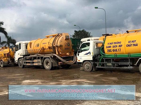 Nhu cầu hút hầm cầu Nông Sơn ngày càng tăng cao